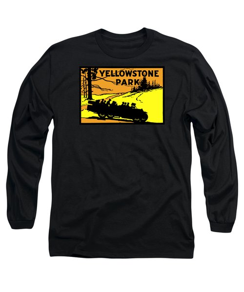 1920 Yellowstone Park Long Sleeve T-Shirt by Historic Image