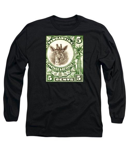 1922 East African Giraffe Stamp Long Sleeve T-Shirt