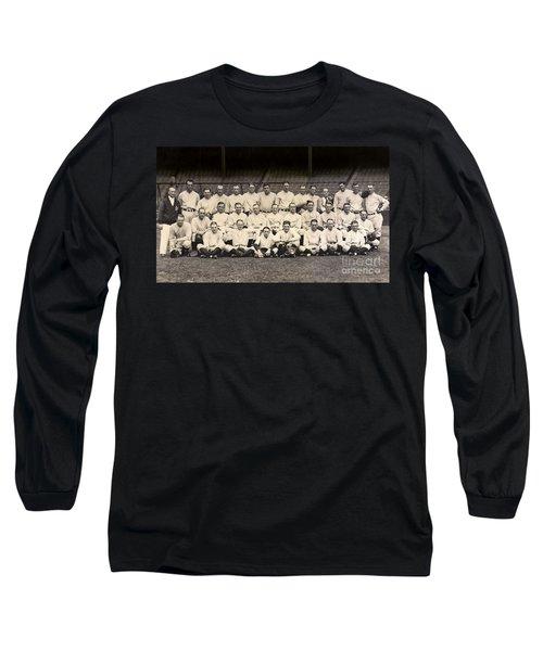 1926 Yankees Team Photo Long Sleeve T-Shirt by Jon Neidert