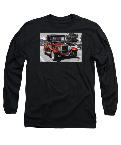 1928 Ford Coupe Hot Rod Long Sleeve T-Shirt by Chris Thomas