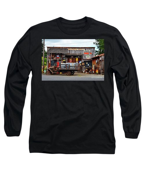 1930s Gas Station And Garage Long Sleeve T-Shirt by Ansel Price