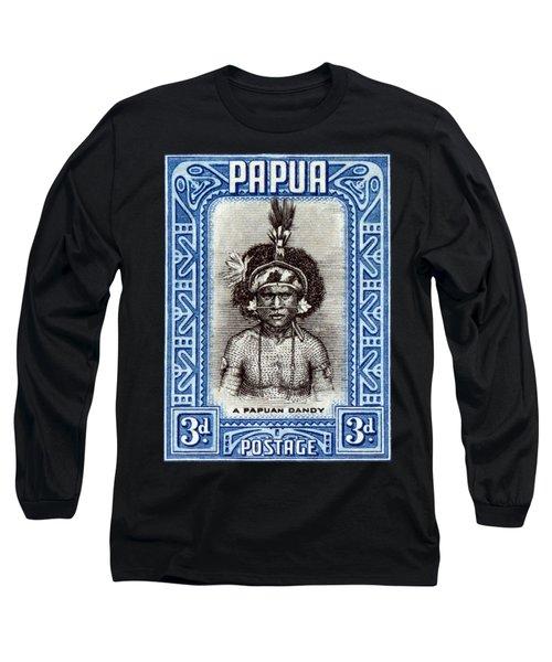 1932 Papuan Dandy Stamp Long Sleeve T-Shirt