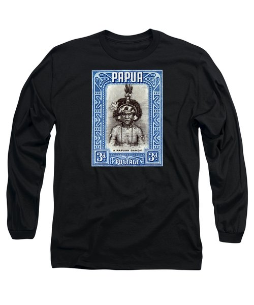 1932 Papuan Dandy Stamp Long Sleeve T-Shirt