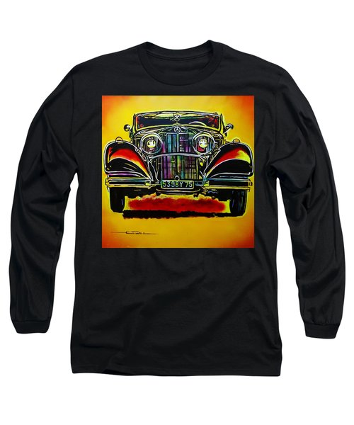 1937 Mercedes Benz First Wheel Down Long Sleeve T-Shirt by Eric Dee