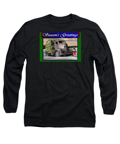 1940 Gmc Christmas Card Long Sleeve T-Shirt by Stuart Swartz