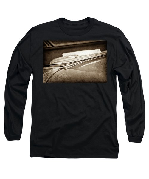 Long Sleeve T-Shirt featuring the photograph 1948 Chevrolet Hood Ornament -0587s by Jill Reger