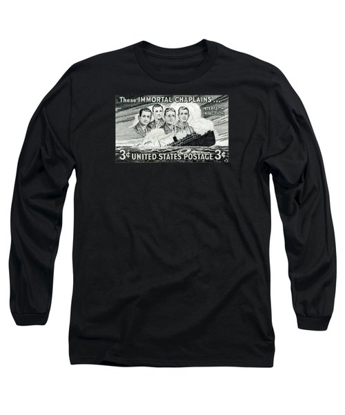 1948 Immortal Chaplains Stamp Long Sleeve T-Shirt