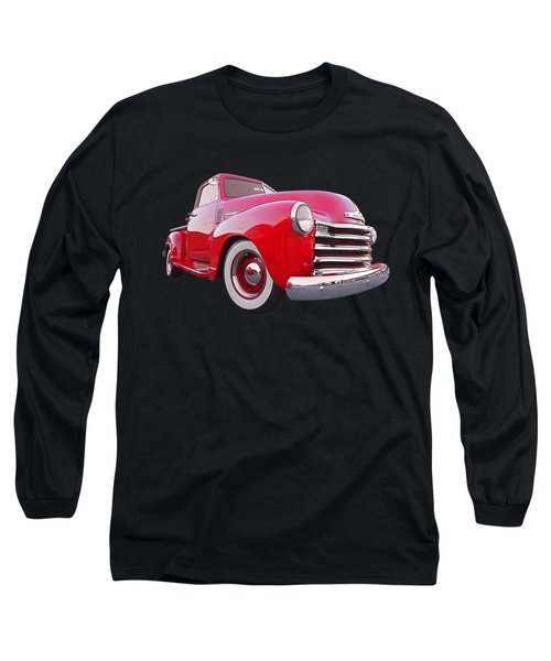 1950 Chevy Pick Up At Sunset Long Sleeve T-Shirt by Gill Billington
