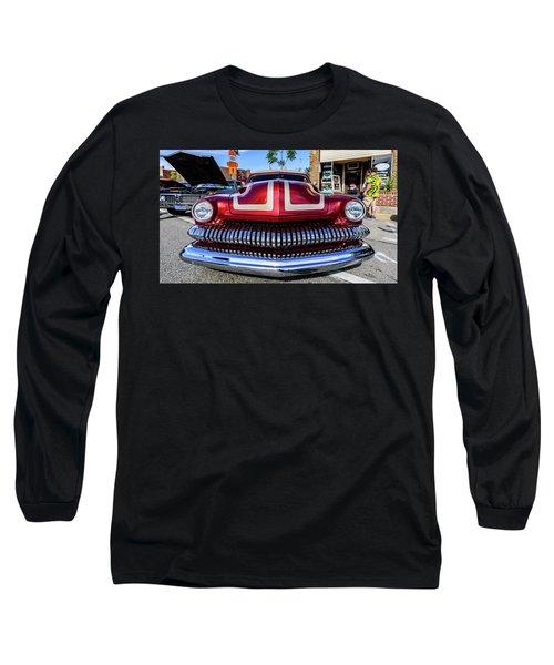 Long Sleeve T-Shirt featuring the photograph 1951 Mercury by Randy Scherkenbach