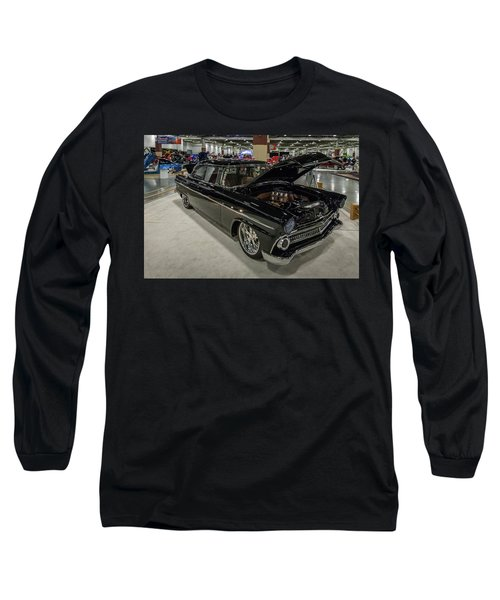 Long Sleeve T-Shirt featuring the photograph 1955 Ford Customline by Randy Scherkenbach