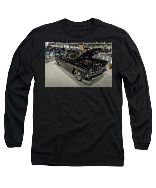1955 Ford Customline Long Sleeve T-Shirt by Randy Scherkenbach