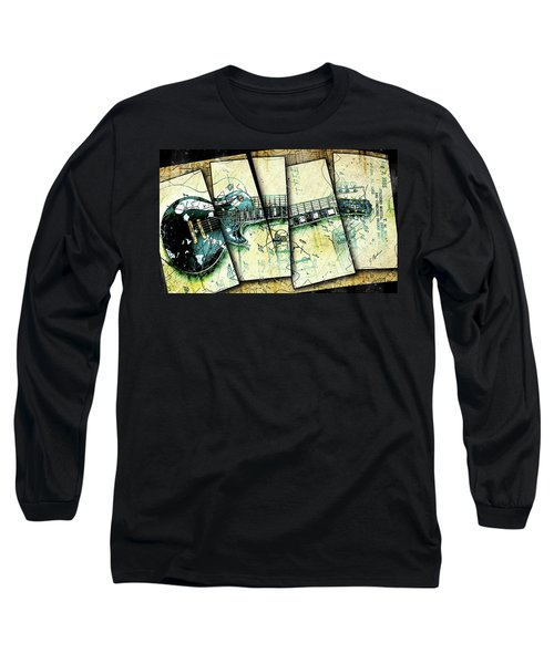 1955 Les Paul Custom Black Beauty V2 Long Sleeve T-Shirt by Gary Bodnar