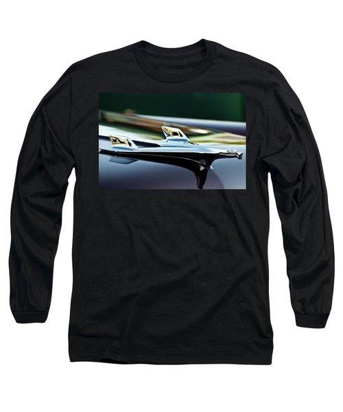 1956 Chevy Belair Hood Ornament Flying 1 Long Sleeve T-Shirt