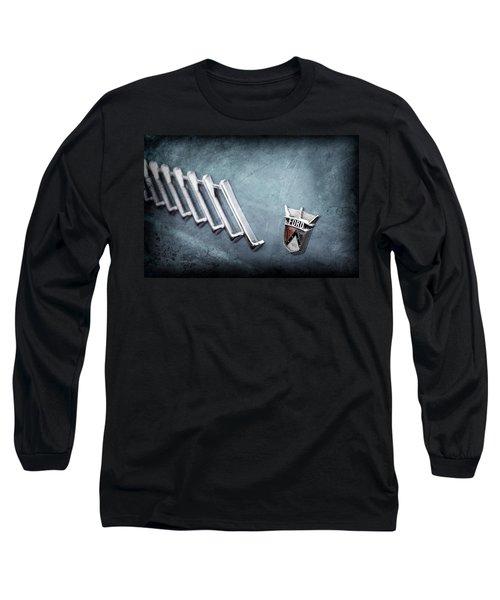 Long Sleeve T-Shirt featuring the photograph 1956 Ford Thunderbird Emblem -0052ac by Jill Reger
