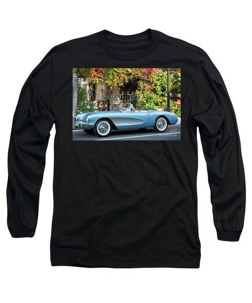 Long Sleeve T-Shirt featuring the photograph 1957 Corvette by Brian Jannsen