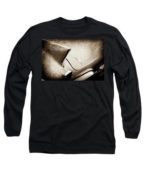 Long Sleeve T-Shirt featuring the photograph 1958 Cadillac Eldorado Biarritz Taillight Emblems -0255s by Jill Reger
