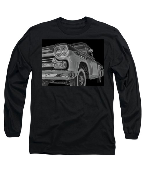 1959 Chevrolet Apache - Bw Long Sleeve T-Shirt