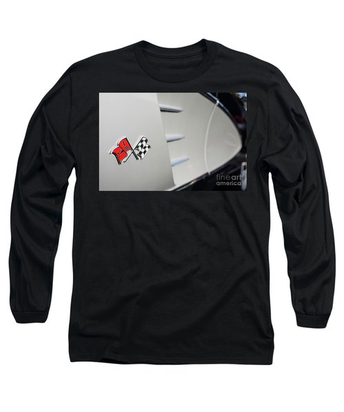 Long Sleeve T-Shirt featuring the photograph 1960 Black And Grey Corvette Side Shot by Aloha Art