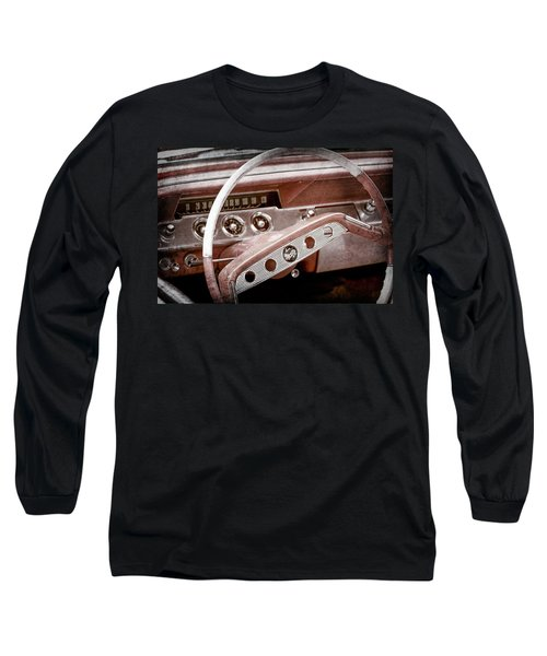 Long Sleeve T-Shirt featuring the photograph 1961 Chevrolet Impala Ss Steering Wheel Emblem -1156ac by Jill Reger