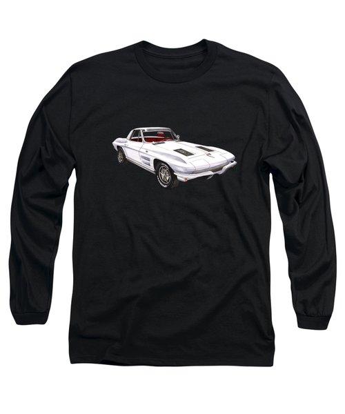 Corvette Sting Ray 1963 Long Sleeve T-Shirt by Jack Pumphrey