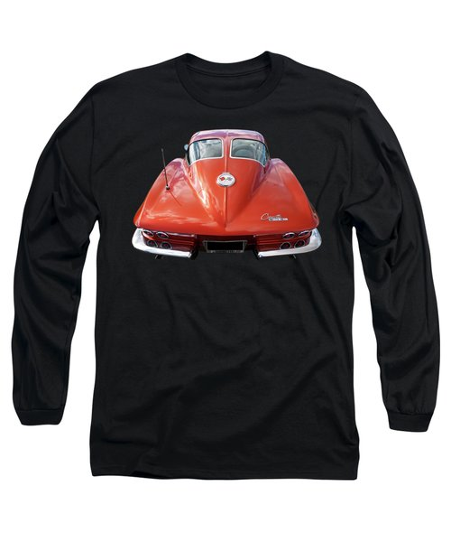 1963 Corvette Stingray Split Window Rear Long Sleeve T-Shirt
