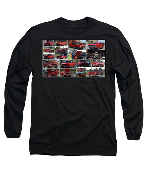 1965 Mustang Fastback Collage Long Sleeve T-Shirt
