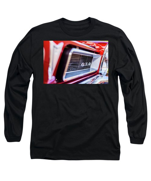 Long Sleeve T-Shirt featuring the photograph 1965 Red Gto Grill by Aloha Art