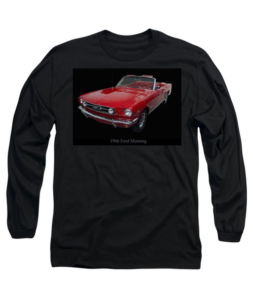 1966 Ford Mustang Convertible Long Sleeve T-Shirt