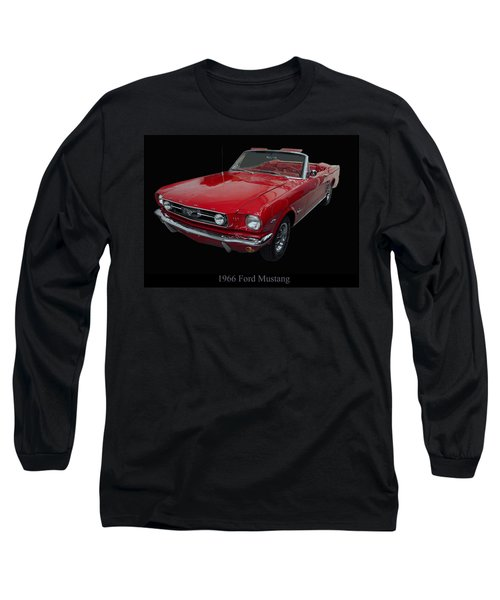 1966 Ford Mustang Convertible Long Sleeve T-Shirt