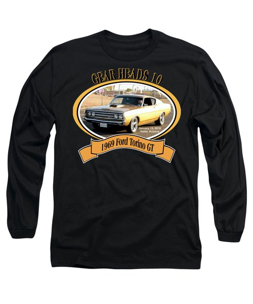 1969 Ford Torino Gt Salmon Long Sleeve T-Shirt