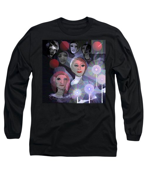 Long Sleeve T-Shirt featuring the digital art 1970 - A Ceremony by Irmgard Schoendorf Welch