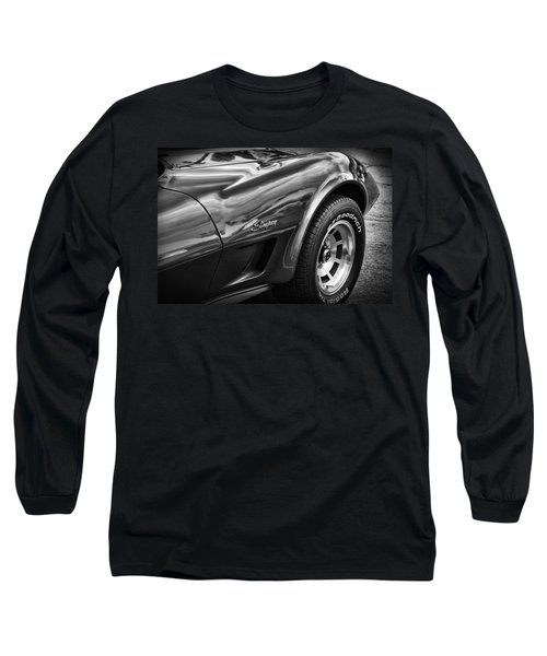 1973 Chevrolet Corvette Stingray Long Sleeve T-Shirt by Gordon Dean II