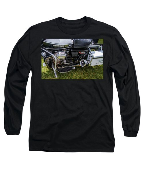 Long Sleeve T-Shirt featuring the photograph 1976 Motto Guzzi V1000 Convert by Roger Mullenhour