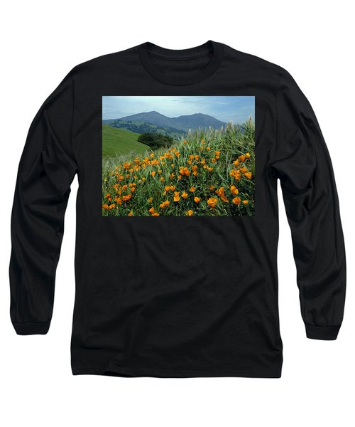 1a6493 Mt. Diablo And Poppies Long Sleeve T-Shirt