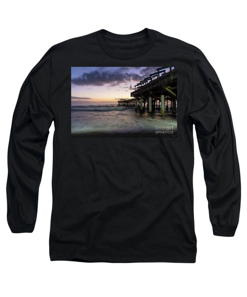 1st Dawn Cocoa Pier Long Sleeve T-Shirt by Jennifer White