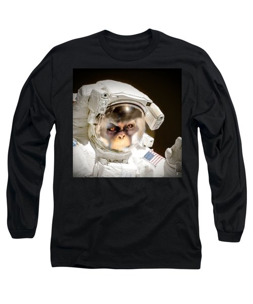 1st Into Space  Long Sleeve T-Shirt by Scott French