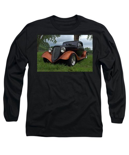 1934 Ford Hot Rod Coupe Long Sleeve T-Shirt by Tim McCullough