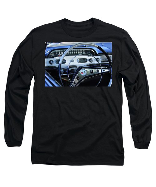 1958 Chevrolet Impala Steering Wheel Long Sleeve T-Shirt