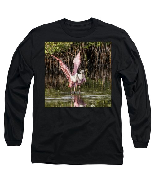 A Pair Of Spoonbills Long Sleeve T-Shirt