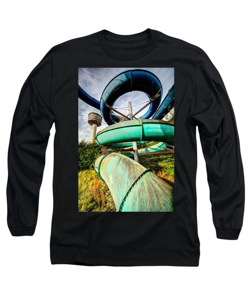 Long Sleeve T-Shirt featuring the photograph abandoned swimming pool - Urban exploration by Dirk Ercken
