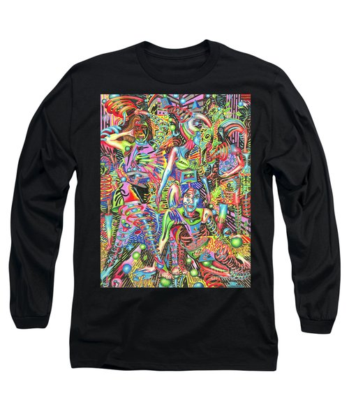 Animated Perspective Of Nocturnal Wandering Long Sleeve T-Shirt