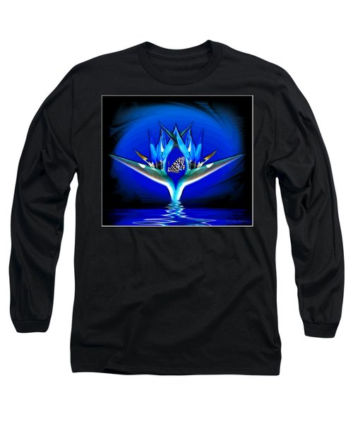 Blue Bird Of Paradise Long Sleeve T-Shirt