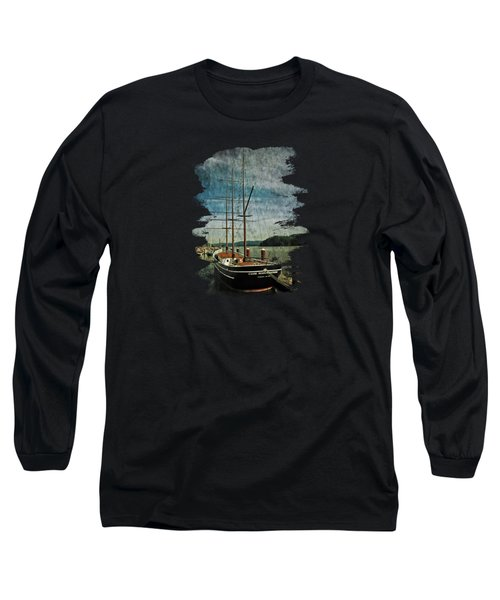Cape Foulweather Tall Ship Long Sleeve T-Shirt by Thom Zehrfeld