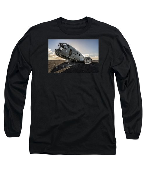 Long Sleeve T-Shirt featuring the photograph Crashed Dc-3 by James Billings