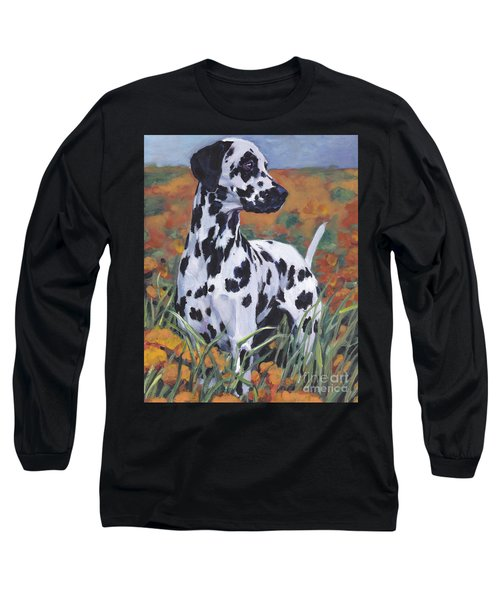 Long Sleeve T-Shirt featuring the painting Dalmatian by Lee Ann Shepard