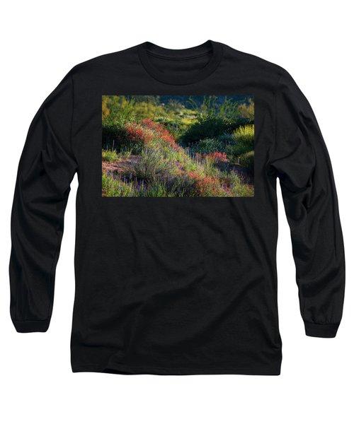 Long Sleeve T-Shirt featuring the photograph Desert Wildflowers  by Saija Lehtonen