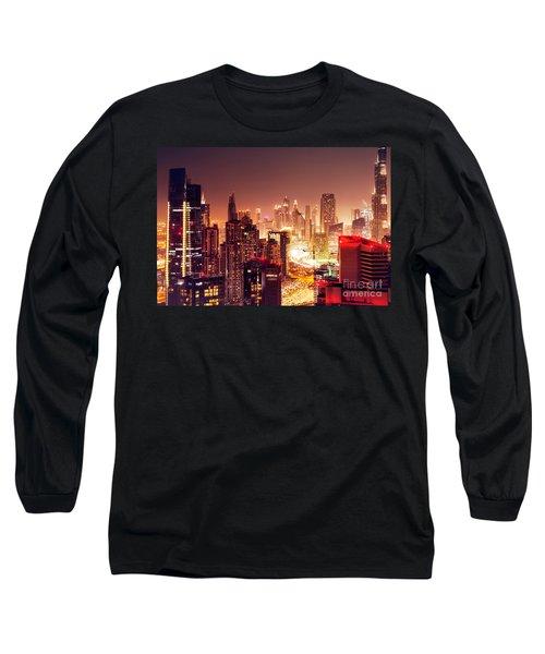 Dubai City At Night Long Sleeve T-Shirt