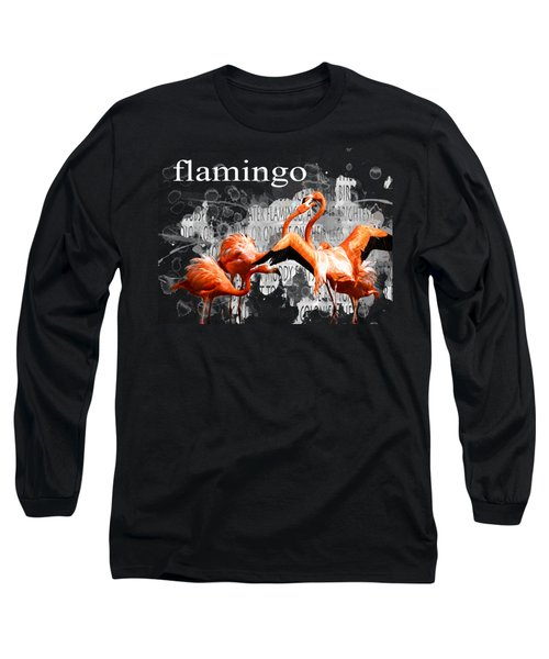 Flamingo Long Sleeve T-Shirt by Methune Hively
