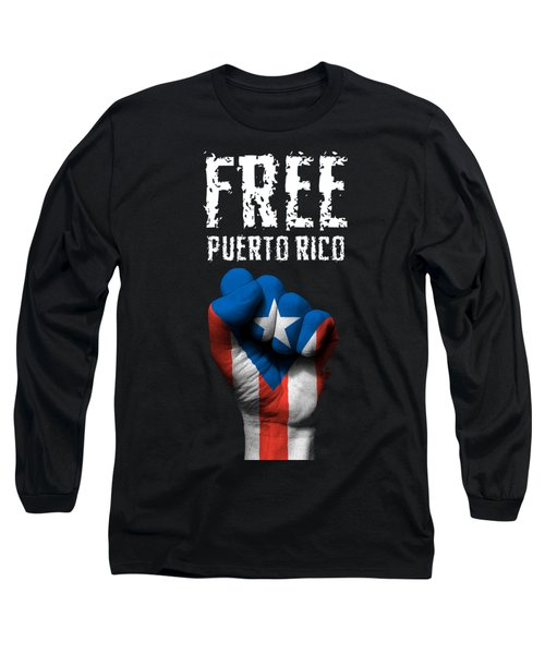 Free Puerto Rico Long Sleeve T-Shirt