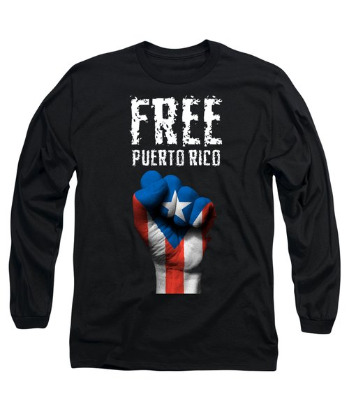 Free Puerto Rico Long Sleeve T-Shirt